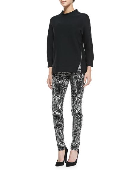 620 Mid-Rise Kaleidoscope-Print Skinny Jeans
