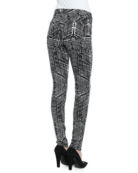 620 Mid-Rise Kaleidoscope-Print Skinny Jeans