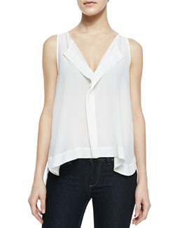 Alice + Olivia Sleeveless High-Low Top