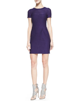 Nanette Lepore Short-Sleeve Cliff-Hanger Dress