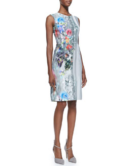 Nanette Lepore Graphic Floral-Print Book Signing Dress