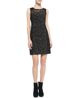 Nanette Lepore Diary Applique-Panel Ponte Dress