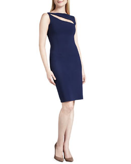 La Petite Robe di Chiara Boni Quinzia Boat-Neck Keyhole Cocktail Dress