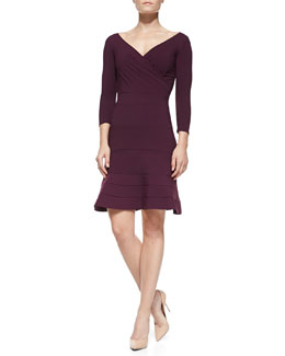 La Petite Robe di Chiara Boni Brunella Half-Sleeve Dress