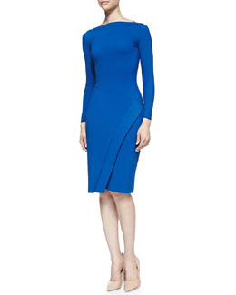 La Petite Robe di Chiara Boni Hermine Long-Sleeve Dress