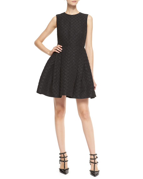 heart-jacquard-pouf-dress by red-valentino