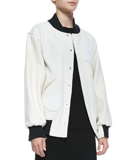 Opening Ceremony Tristen Wool-Blend Varsity Jacket