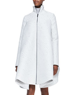 Opening Ceremony Dimensional Fingerprint-Swirl Jacquard Coat