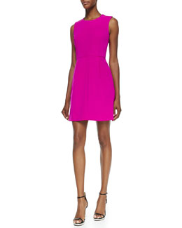 Milly Coco Sleeveless Seamed A-line Dress