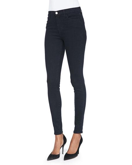 J Brand Maria High-Rise Skinny Jeans, Bluebird