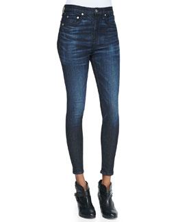 rag & bone/JEAN Justine Anfield High-Rise Zip-Cuff Denim Jeans
