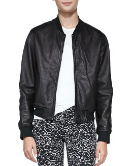 rag & bone/JEAN Leather Zip-Front Jacket