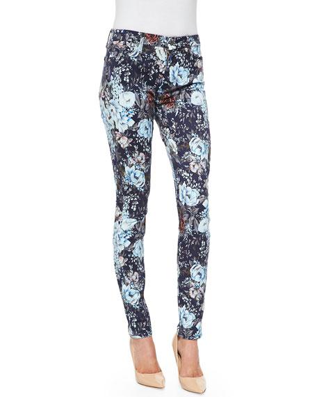 High-Waist Skinny Jeans, Duchess Garden Print