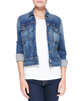 7 For All Mankind Classic Faded Denim Jacket, Absolute Heritage