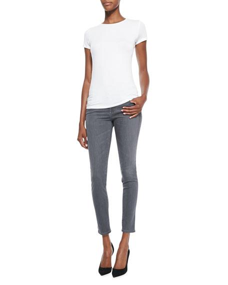 Ankle Skinny Jeans, 5-Year/Skyline