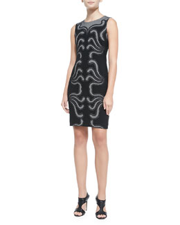 Diane von Furstenberg Stagewave Sleeveless Sheath Dress