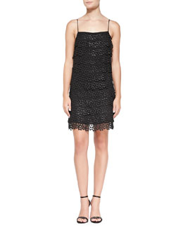 Diane von Furstenberg Spaghetti Strap Tiered Star Lace Dress