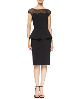 La Petite Robe di Chiara Boni Lucetta Lace Appliqué Cocktail Dress