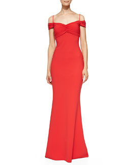 La Petite Robe di Chiara Boni Gardenia Sweetheart-Neck Mermaid Gown