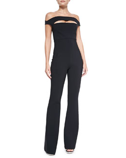 Rebecca Off-Shoulder Peekaboo Jumpsuit