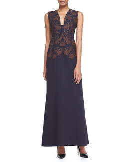 Tory Burch Breanon Brocade Gown
