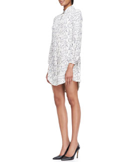 Tory Burch Cora Silk Printed Shirtdress
