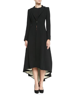 Alice + Olivia Bain Contrast-Lining Princess Coat