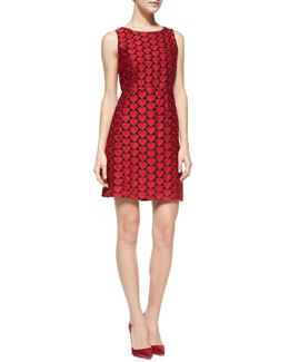 Alice + Olivia Everleigh Heart-Embroidered Sleeveless Dress