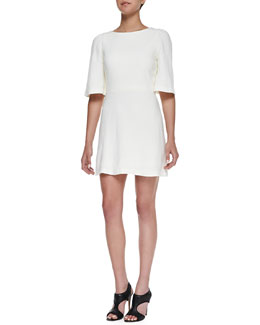 Alice + Olivia Maely Textured Bell-Sleeve Dress