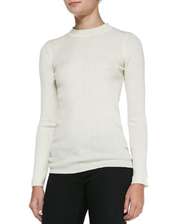 Rag & Bone Bianca Ribbed-Knit Top