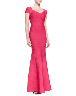Herve Leger Karin Signature Essential Bandage Gown