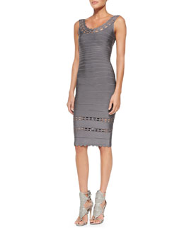 Herve Leger Lilykate Cutout-Trim Bandage Dress