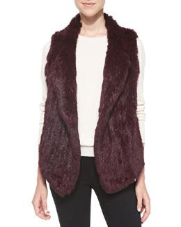 Joie Andoni Open-Front Fur Vest