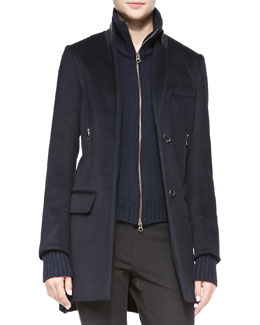 Veronica Beard Uptown-Dickey Wool Car Coat