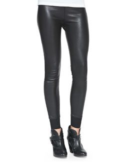 rag & bone/JEAN The Danny Leather Leggings, Black