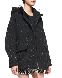 Rag & Bone Thompson Splattered Jersey Coat