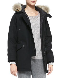 Rag & Bone Waterloo Fur-Trim Quilted Parka
