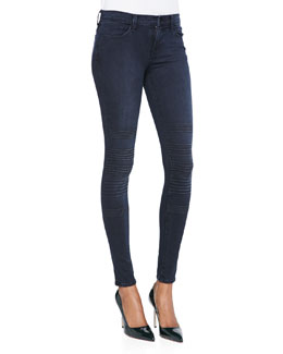 J Brand Jeans Willow Verve Trapunto-Knee Skinny Jeans