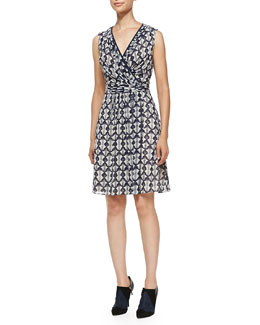 Tory Burch Leyna Printed Surplice Georgette Dress