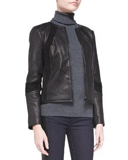 Tory Burch Micky Leather Jacket