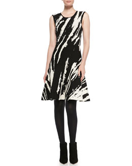 Ohne Titel Core Sleeveless Patterned A-Line Dress