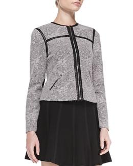 Rebecca Taylor Nov Floral-Jacquard Jacket