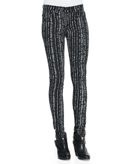 rag & bone/JEAN The Legging Barcode Printed Knit Pants