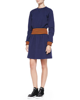 MARC by Marc Jacobs Jayden Long-Sleeve Sweatshirt Dress
