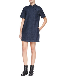 MARC by Marc Jacobs Short-Sleeve Japanese Denim Dress