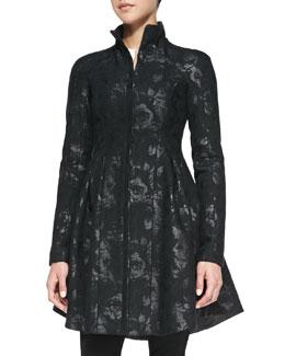 Nanette Lepore Skyscape Shimmery Brocade Coat