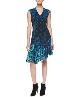 Nanette Lepore Mystery Asymmetric Floral-Print Dress
