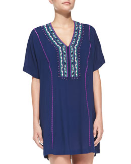 Costa Del Sol Embroidered Coverup