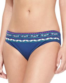 Costa Del Sol Embroidered Swim Bottom