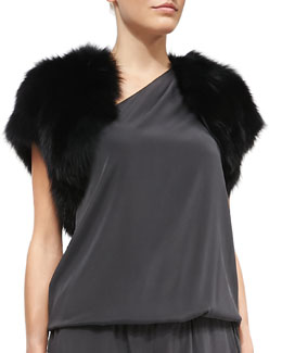 Ramy Brook Fox Fur Shrug
